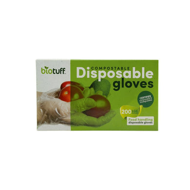 Biotuff Compostable Disposable Gloves - Large 200