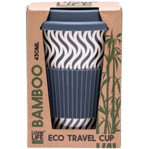 Luvin Life Bamboo Travel Cup 430ml - Waves Design
