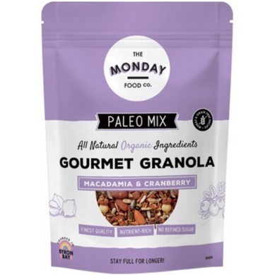 Monday Food Co. Paleo Granola Macadamia & Cranberry