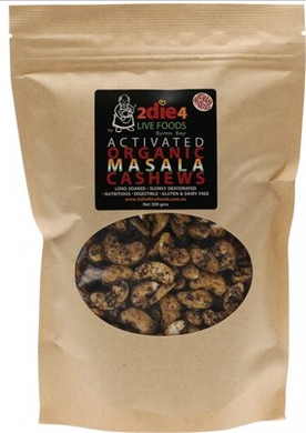 2die4 Live Foods Activated Organic Masala Cashews 300g
