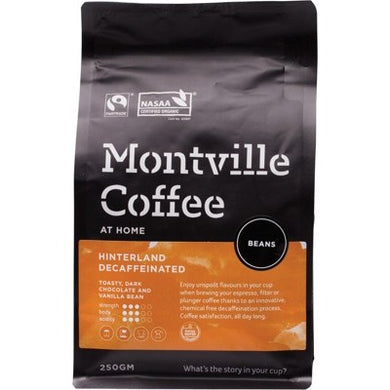 Montville Coffee Decaf Coffee Beans Hinterland Blend