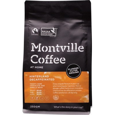 Montville Coffee Decaf Coffee Plunger Hinterland Blend (Ground)