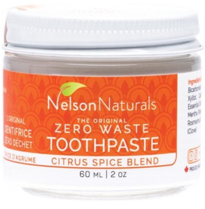 Nelson Naturals Zero Waste Toothpaste Citrus Spice Blend 60ml