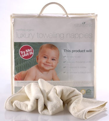 Nature's Child Luxury Towelling Nappies 6pk
