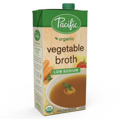 Pacific Foods Organic Low Sodium Vegetable Stock/Broth 946ml
