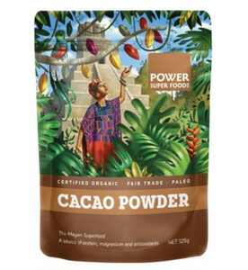 Power Super Foods Organic Cacao Powder 125g