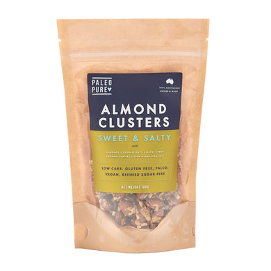 Paleo Pure Almond Clusters Sweet & Salty 100g