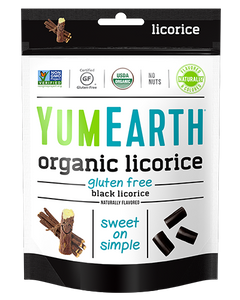 Yum Earth Organic Licorice Black 142g