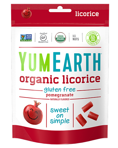 Yum Earth Organic Licorice Pomegranate 142g