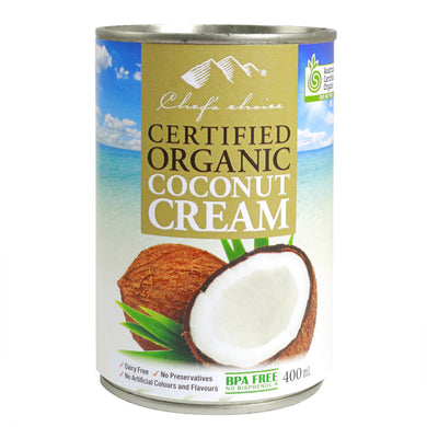 Chef's Choice Certified Organic Coconut Cream 400g x 12 cans