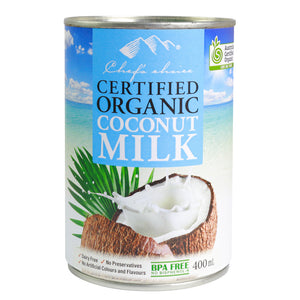 Chef's Choice Certified Organic Coconut Milk 400g x 12 cans
