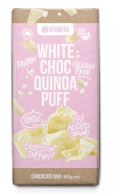 Vitawerx - White Chocolate Quinoa Puff Block 100g