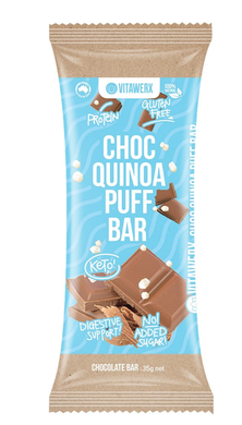 Vitawerx - Milk Chocolate Quinoa Puff Bar 35g