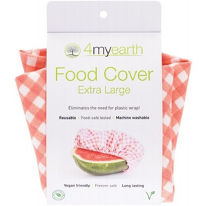 4MyEarth Food Cover - Red Gingham - XL - 1