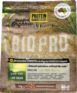 Protein Supplies Australia Bio Pro Sprouted Choc Hazel Rice Protein Powder 1kg