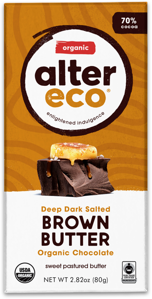Alter Eco Dark Brown Butter Chocolate 80g