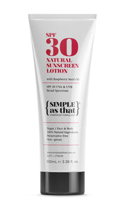Simple as That Natural Sunscreen 30 SPF 100ml