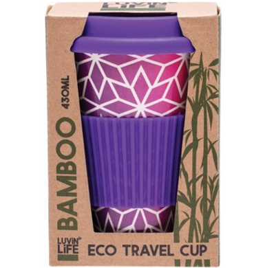 Luvin Life Bamboo Travel Cup 430ml - Stars Design
