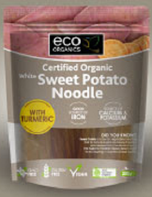 Eco Organics Organic White Sweet Potato Noodle with Turmeric 200g
