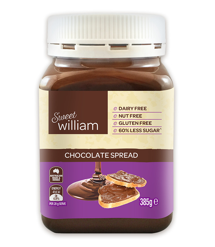 Sweet William Dairy Free Chocolate Spread 385g
