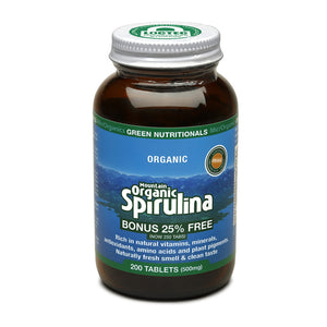 Green Nutritionals Mountain Organic Spirulina Tablets (500mg) - 200 Tabs