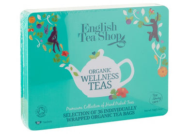 English Tea Shop Organic Wellness Collection Blue Tin 36 sachets