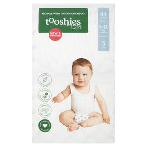 TOOSHIES BY TOM Nappies With Organic Bamboo Size 3 Crawler - 6-11kg 2x44