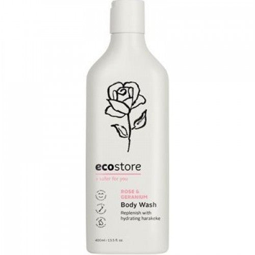 Ecostore Body Wash Rose & Geranium 400ml