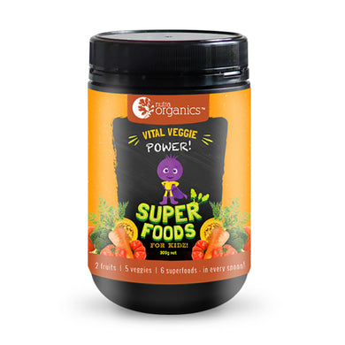 Nutra Organics Superfoods For Kidz - Vital Veggie Powder 300g