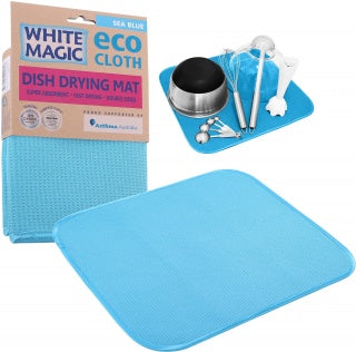 White Magic Drying Mat Sea Blue 1Pk