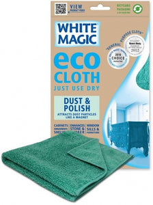 White Magic Eco MicroFibre Dust & Polish 1Pk