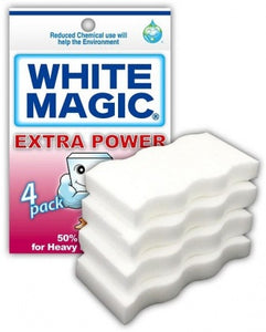 White Magic Eraser Sponge Extra Power 4Pk