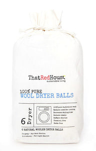 That Red House Wool Dryer Balls 100% Pure - Pack of 6