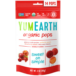 YumEarth Organic Assorted Fruit Lollipops 14 pack 85g