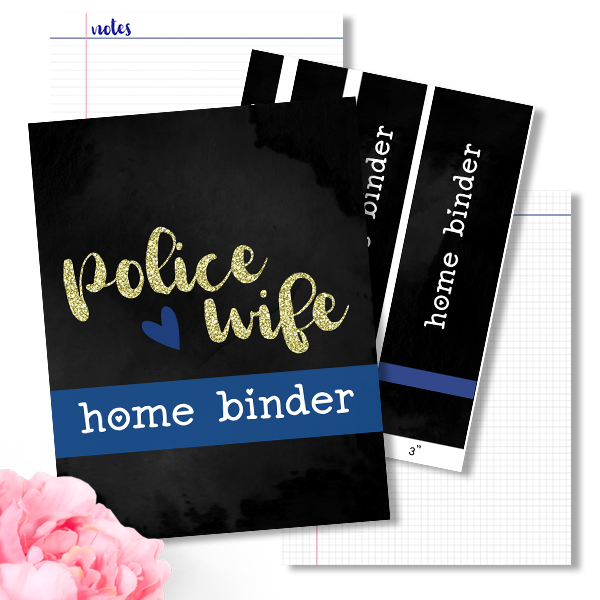 Police Wife Home Binder