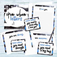 Printable Open When Letter Kit for Police Officers