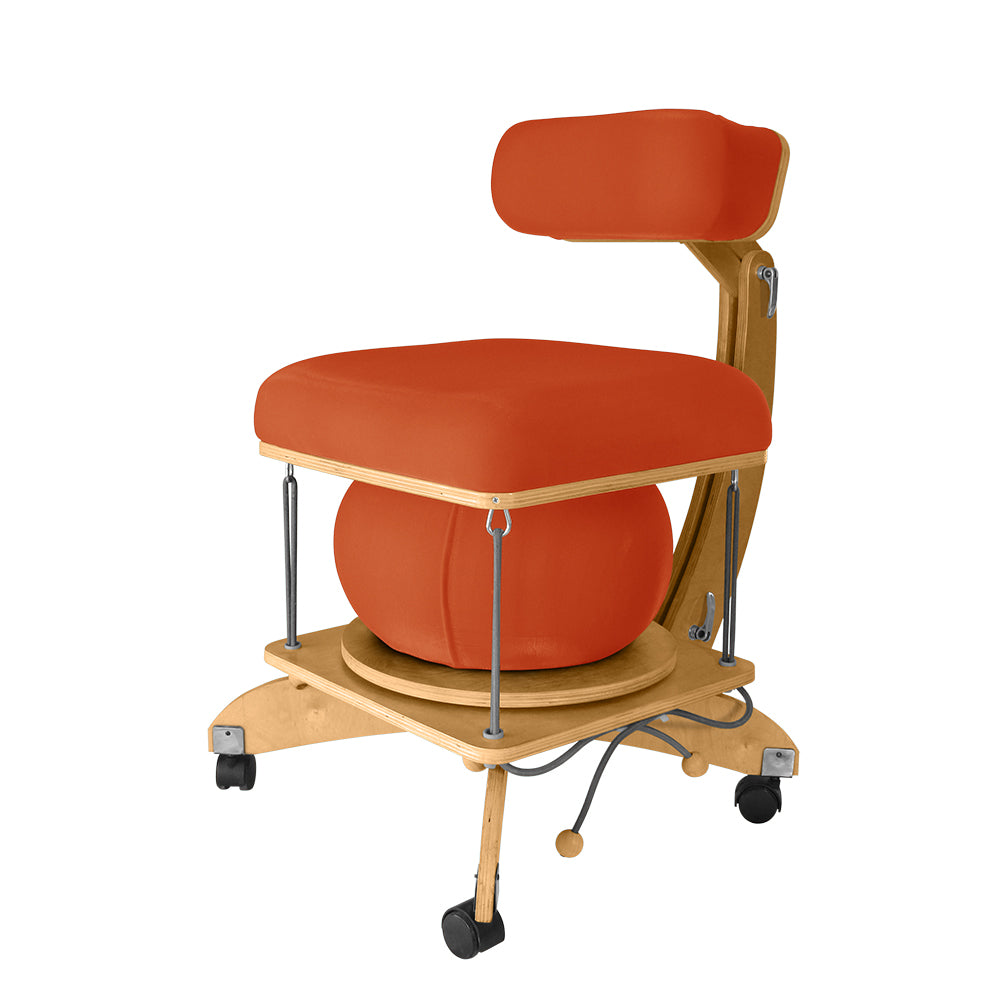 active sitting språng chair orange