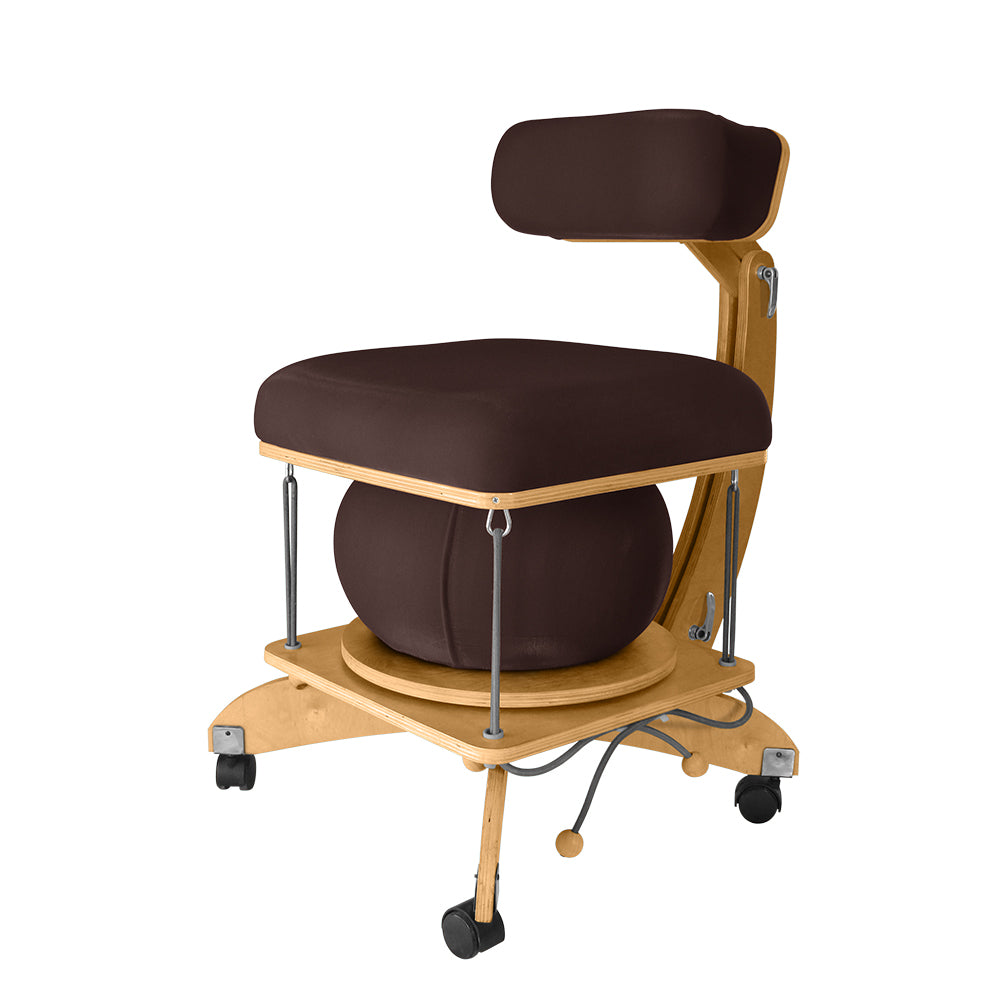 active sitting språng chair brown