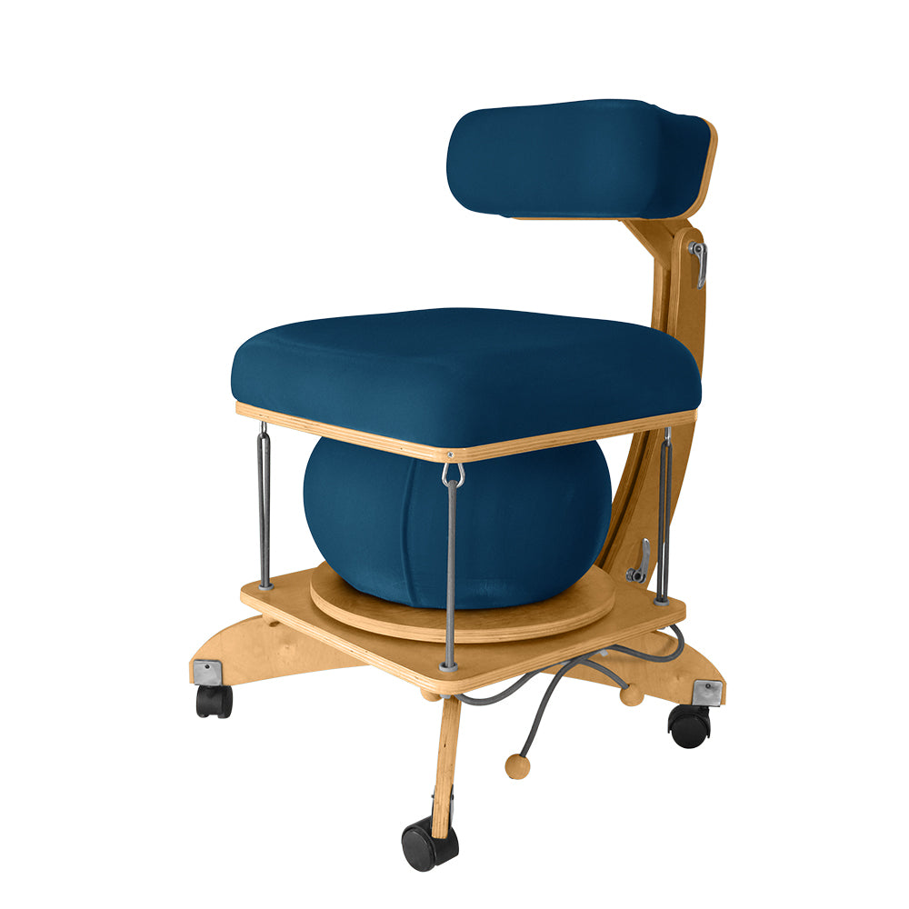 active sitting språng chair teal