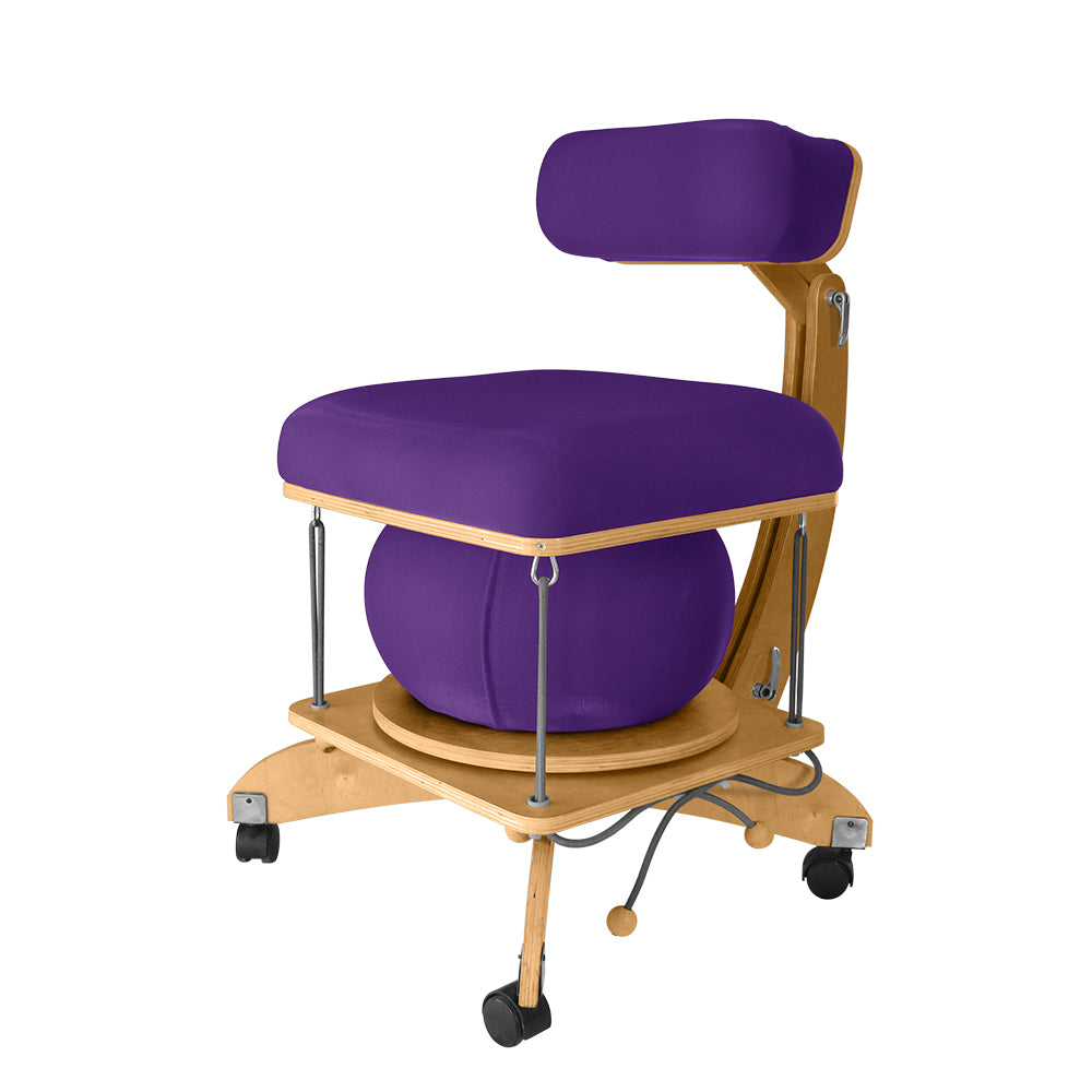 active sitting språng chair plum
