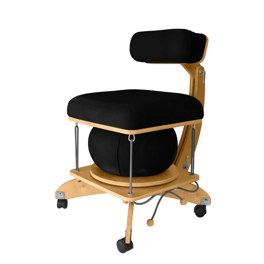 active sitting språng chair black
