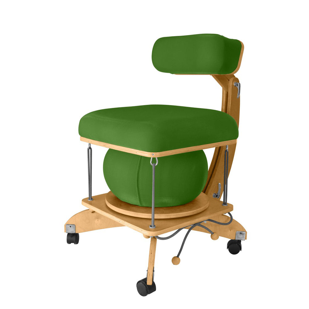 active sitting språng chair green