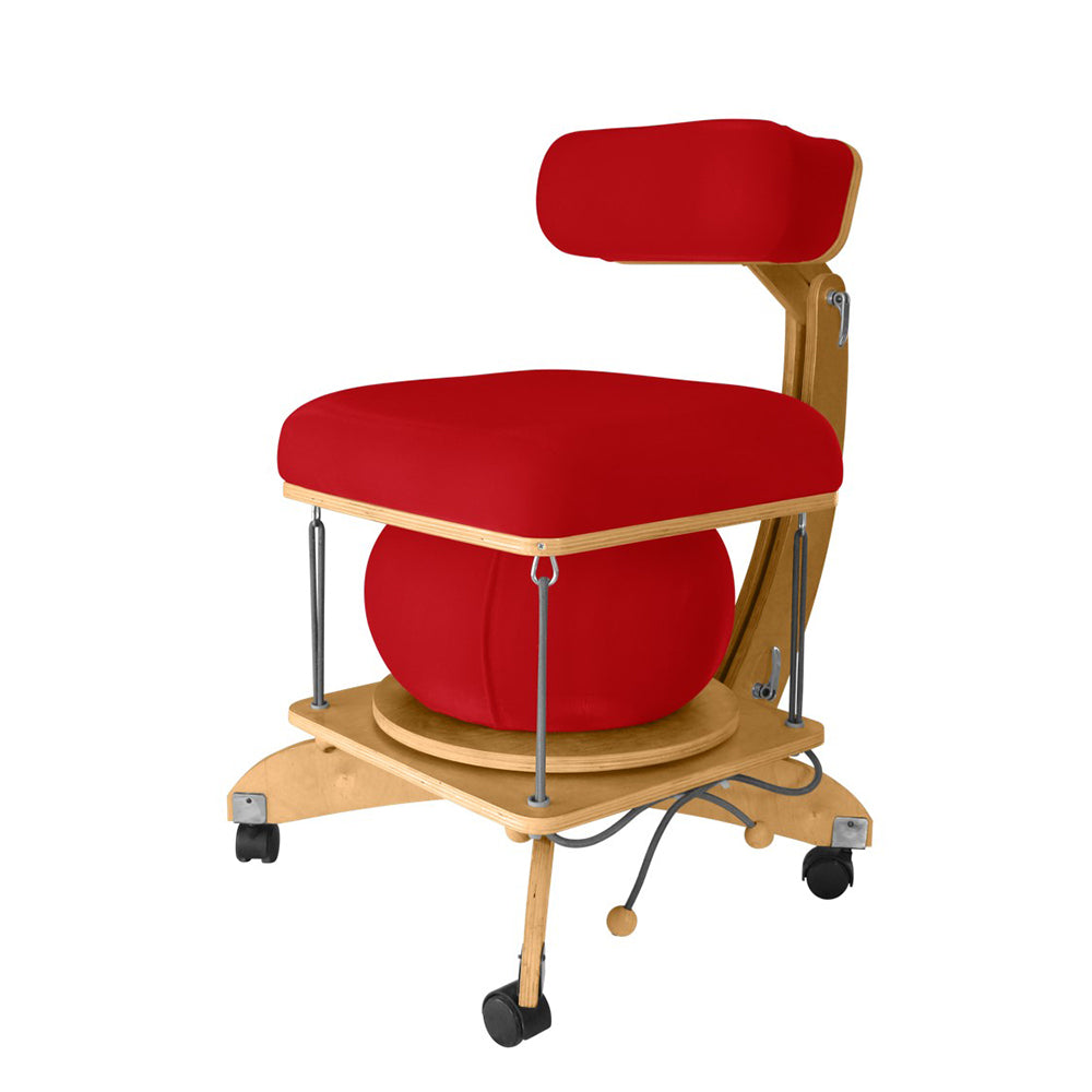 active sitting språng chair red