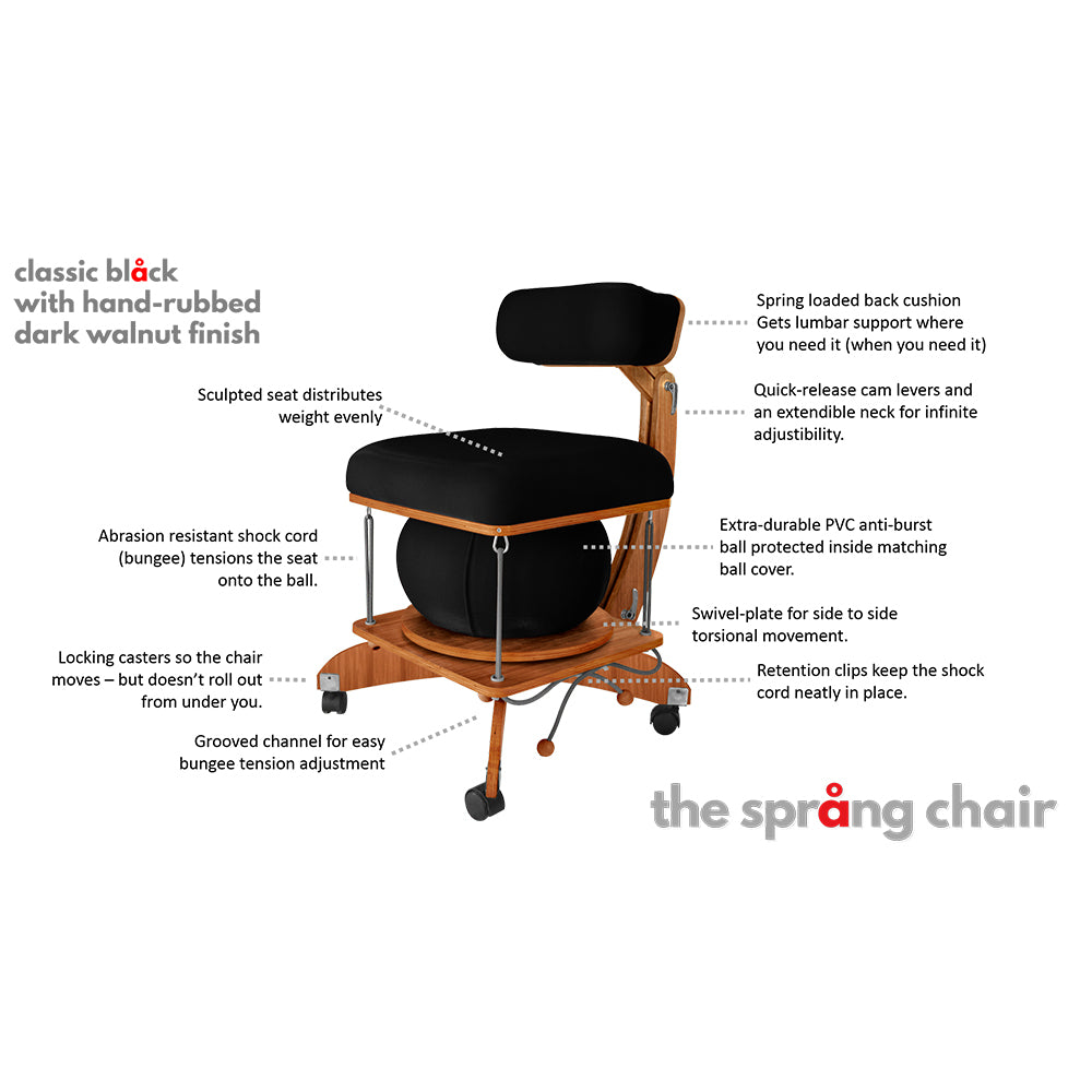 sprang chair features