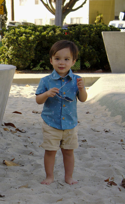Boys Lil Braddah' Short Sleeve Woven Shirt - Mermaid's Tail