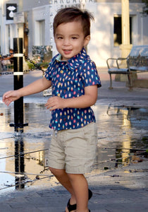 Boys Lil' Braddah Short Sleeve Woven Shirt - Treat Yo'Self