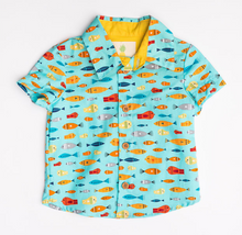 Boys Lil' Braddah Short Sleeve Woven Shirt - So Many Fish