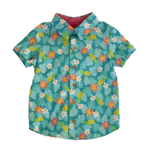 Boys Lil Braddah Short Sleeve Woven Shirt - Aloha Fridays