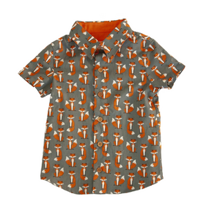 Boys Lil Braddah Short Sleeve Woven Shirt - Catch a Kitsune