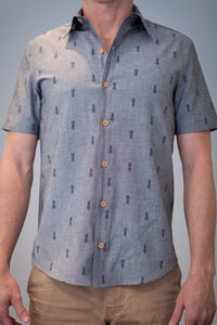 Pineapple Lagoon - Short Sleeve Woven Shirt